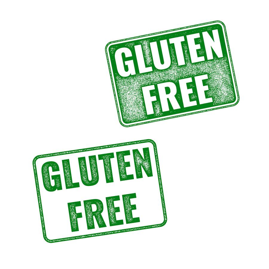 Realistic Gluten Free Grunge Rubber Stamp On White
